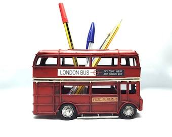 Vintage London bus miniature pencil case, retro collection,London classic miniature,retro decorative & pencil case