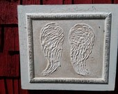 Angel Wings, Wood Sign, Rustic, Upcycled, Vintage, Shabby, Country decor