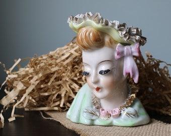 Victorian Lady Vase, Small