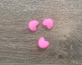 3 hearts pink