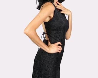 Backless dress - Slip dress - Little black dress - 90s dress - Kate Moss Dress - Bias cut dress - LBD - Low back dress - Basic black dress