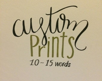 Custom Hand- Lettering 10-15 words