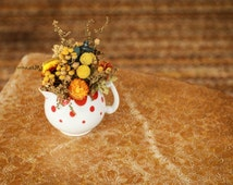 Embers - Vintage Creamer Dried Floral Garden