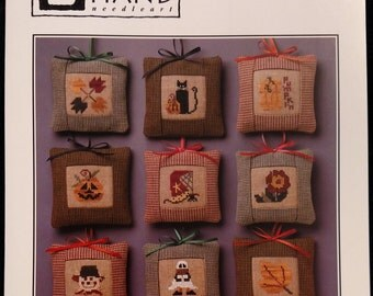 Autumn Tiny Trimmings counted cross stitch instruction booklet