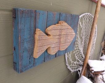 Wooden Fish Wall Decor reclaimed wood fish   etsy