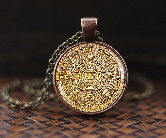 Mayan calendar pedant mayan calendar jewelry aztec calendar like this item aloadofball Image collections