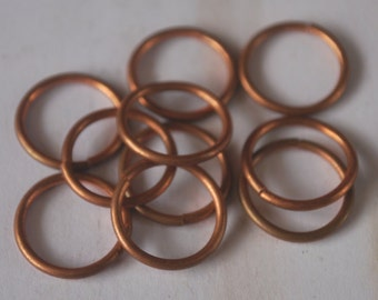 Hand sawn 16g 12.7mm open copper jumprings