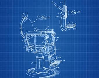 Dentist Reclining Chair Patent - Patent Print, Wall Decor, Dentist Office Decor, Medical Art, Dental Art, Medical Decor