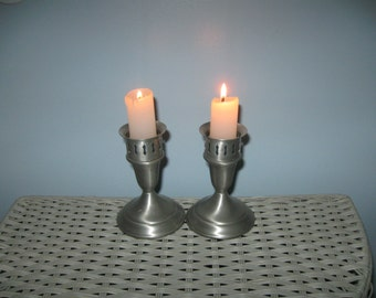 Pair Towle Weighted Sterling Candlesticks with Globe Holders