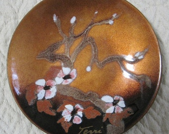 Enamel on Copper Dish, Handcrafted by Bovano of Cheshire, Vintage