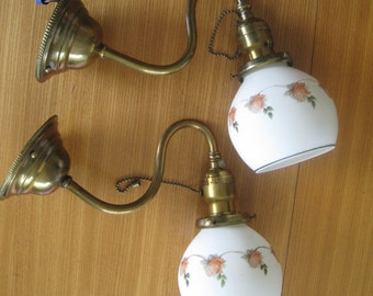 Vintage Wall SCONCES, Pair , 1940's