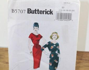 Vintage Dress Pattern. BUTTERRICK B5707. Retro Dress Pattern. Mad Men Dress. Mad Men Dress Pattern. Wiggle Dress Pattern. Dress Pattern