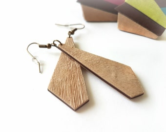 Beige earrings dangle, Natural earrings, Simple earrings boho, Dangle earrings minimalist, Minimalist jewelry, Cream earrings, Neutral color