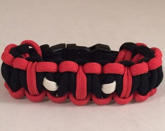 Deadpool Inspired Paracord Bracelet-Glow In The Dark Eyes