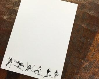 Skier Notepad