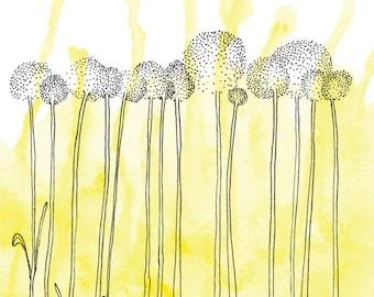 makeforgood Billy Button Flower - Greeting Card