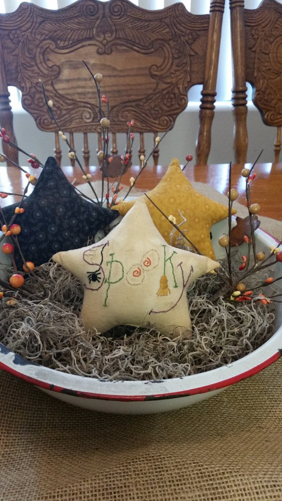Halloween stars fall stars ornies bowl fillers fall decor Halloween decor OFG FAAP primitive Halloween stars