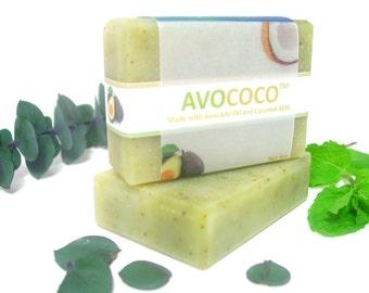 Eucalyptus & Spearmint Soap, Natural Soap, Vegan Soap, Bar Soap, Essential Oils, Cold Process Soap, Coconut Milk Soap, Handmade Soap