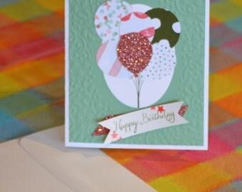 Handmade Birthday Card, StampinUp! Card, Happy Birthday Card