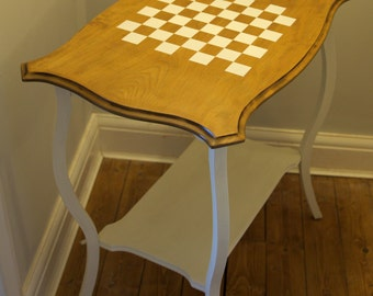 Chess table - large restored side table