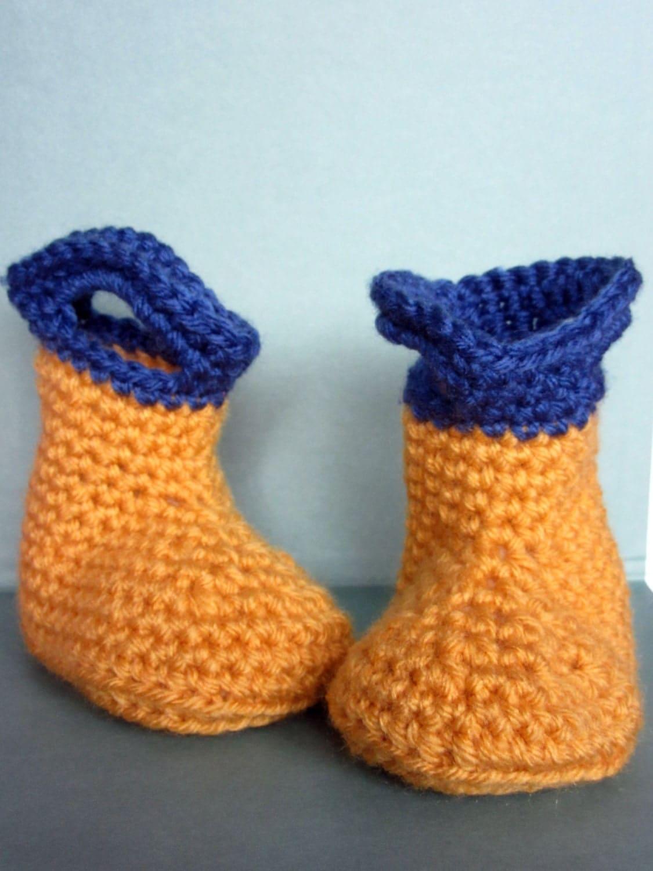 Crochet Pattern Baby Rain Boots : Crochet Baby Rain Boots baby gift crochet baby booties baby