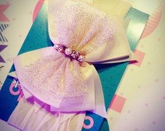 Tulle big bow headband