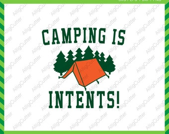 Camping is intents Camping Wildness Summer Frame SVG DXF PNG eps Mountain Outdoor Cut Files for Cricut Design, Silhouette studio, Sure Cut