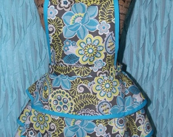 Plus Size Vintage style tiered full apron