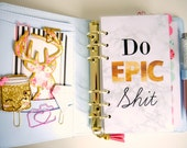 Do Epic Shit Marble Personal, A5 & Pocket Size Planner Dashboards