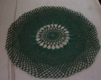 Lacy Green Doily