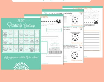 21 Day Positivity Challenge Workbook - Printable Digital File