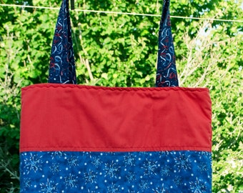 Patriotic Fireworks Tote Bag