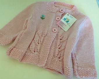 Adorable pink baby cardi