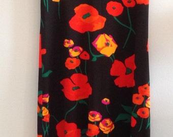 Vintage Poppy Print Maxy Dress