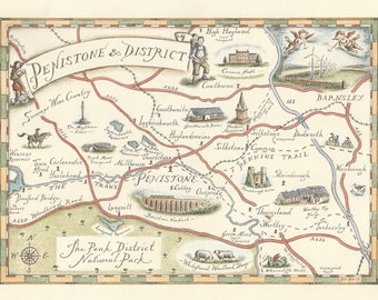 Map Of Penistone & District