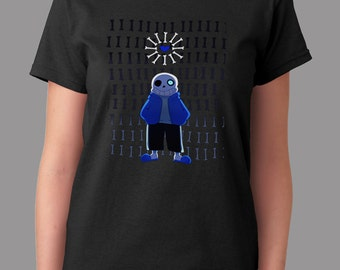 Undertale Sans With Bones Art You're Gonna Have A Bad Time Game Inspired T-shirt. Male and Female Apparel