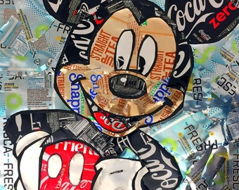 Recycled Soda Can Mickey Mouse