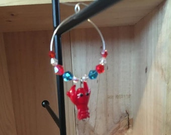 Lobster Wine Glass Charm