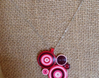 Quilled paper art necklace