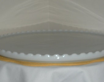 Large Vintage Milk Glass Platter or Dental Tray by Ritter Company, Inc.