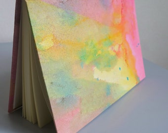 Drawing book bound and hand-painted