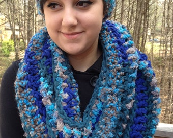 Multi-Color Ear Cuff and Infinity Scarf Set