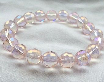 10mm Crystal Stretch Bracelet