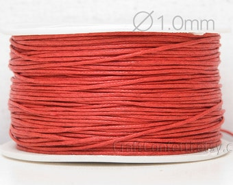 Red cotton cord 1mm for bracelet Red craft cord Red cord Beading cord Cotton Cord for jewelry String for Jewelry DIY jewelry