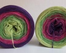 Crochet lace yarn gradient knit handmade barrel length selectable wool yarns
