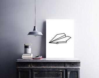 Origami, Origami Print, Origami Poster, Geometric Print, Decor Modern, Print Scandinavian, Minimal Modern, Print Modern, Prints Minimalist
