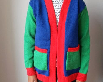 Boys or Girls Knitted Colour Cardigan