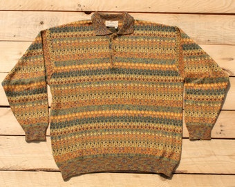 "Vintage Retro Authentic Sweater Jumper long sleeve ""EXAMPLE by MISSONI"" Made in Italy maglione felpa Taglia/Size 48 (L)"