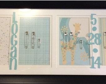 Custom Baby Frame, Nursery Decor, Boy Girl or Neutral