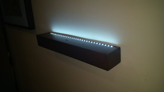 Floating Shelf With Battery Powered Led Lights No Wires